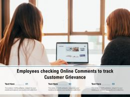Employees Checking Online Comments To Track Customer Grievance