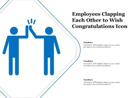 Employees Clapping Each Other To Wish Congratulations Icon