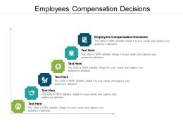 Employees Compensation Decisions Ppt Powerpoint Presentation Icon Diagrams Cpb
