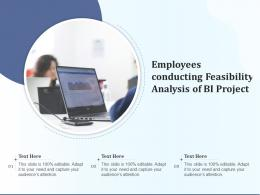Employees Conducting Feasibility Analysis Of BI Project