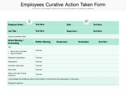 Employees Curative Action Taken Form