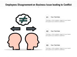 Employees Disagreement On Business Issue Leading To Conflict