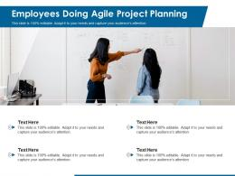 Employees Doing Agile Project Planning