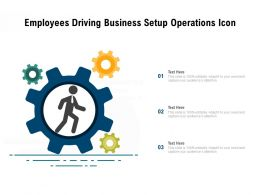 Employees Driving Business Setup Operations Icon