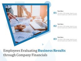 Employees Evaluating Business Results Through Company Financials