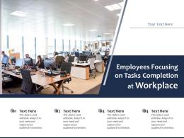 Employees Focusing On Tasks Completion At Workplace