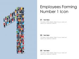 Employees Forming Number 1 Icon