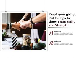 Employees Giving Fist Bumps To Show Team Unity And Strength