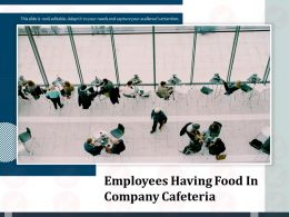 Employees Having Food In Company Cafeteria