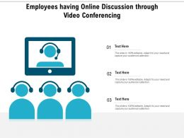 Employees Having Online Discussion Through Video Conferencing
