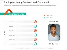 Employees Hourly Service Level Dashboard Automation Compliant Management Ppt Icons