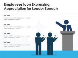 Employees Icon Expressing Appreciation For Leader Speech