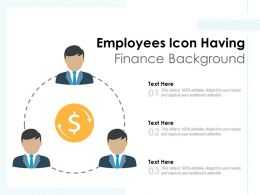 Employees Icon Having Finance Background