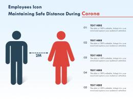 Employees Icon Maintaining Safe Distance During Corona