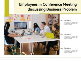 Employees In Conference Meeting Discussing Business Problem