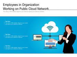 Employees In Organization Working On Public Cloud Network