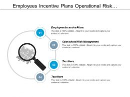Employees Incentive Plans Operational Risk Management Marketing Plan Cpb