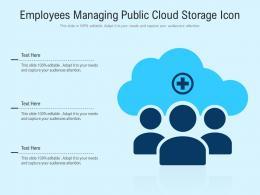 Employees Managing Public Cloud Storage Icon