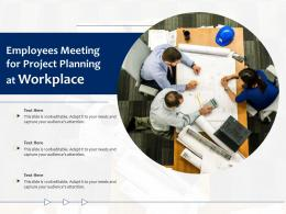 Employees Meeting For Project Planning At Workplace