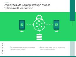 Employees Messaging Through Mobile By Secured Connection