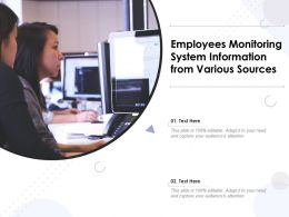 Employees Monitoring System Information From Various Sources