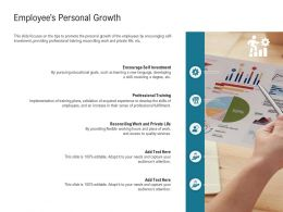Employees Personal Growth Of Work Ppt Powerpoint Presentation Outline Designs Download