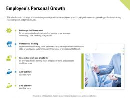 Employees Personal Growth Professional Training Ppt Samples