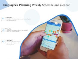 Employees Planning Weekly Schedule On Calendar