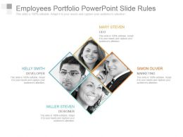 Employees Portfolio Powerpoint Slide Rules