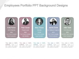Employees Portfolio Ppt Background Designs