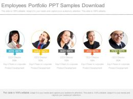 Employees Portfolio Ppt Samples Download