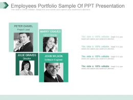 Employees Portfolio Sample Of Ppt Presentation