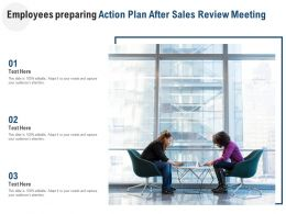 Employees Preparing Action Plan After Sales Review Meeting