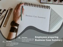 Employees Preparing Business Case Summary