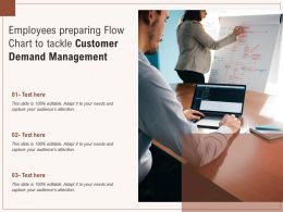 Employees Preparing Flow Chart To Tackle Customer Demand Management