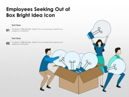 Employees Seeking Out Of Box Bright Idea Icon