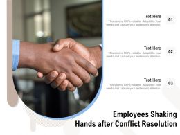 Employees Shaking Hands After Conflict Resolution