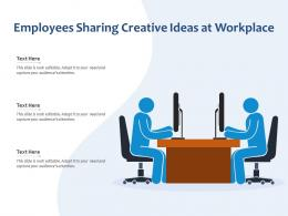 Employees Sharing Creative Ideas At Workplace