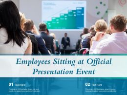 Employees Sitting At Official Presentation Event