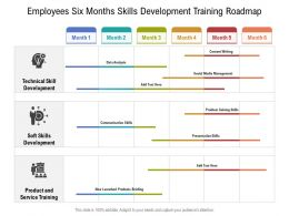 Employees Six Months Skills Development Training Roadmap