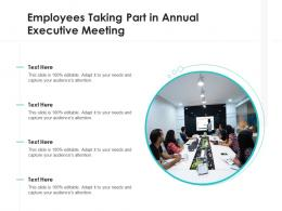 Employees Taking Part In Annual Executive Meeting