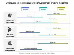 Employees Three Months Skills Development Training Roadmap