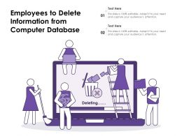Employees To Delete Information From Computer Database