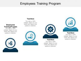 Employees Training Program Ppt Powerpoint Presentation File Design Inspiration Cpb