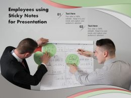 Employees Using Sticky Notes For Presentation