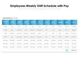 Employees Weekly Shift Schedule With Pay