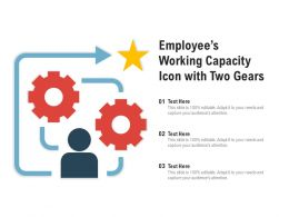 Employees Working Capacity Icon With Two Gears