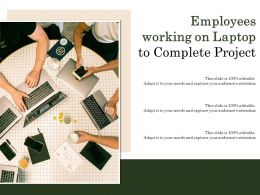 Employees Working On Laptop To Complete Project