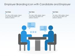 Employer Branding Icon With Candidate And Employer