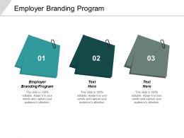 Employer Branding Program Ppt Powerpoint Presentation Infographics Graphics Example Cpb